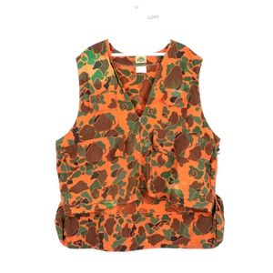 Vtg 70s Streetwear Distressed Camo Tactical Vest